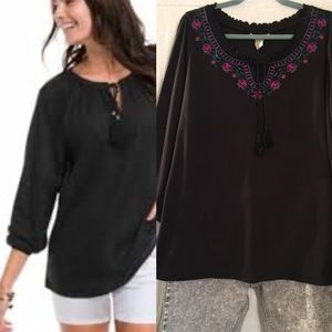 Roamans Plus size embroidered cotton top! Cute